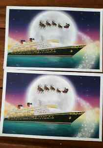 Official Disney Christmas Lithographs featuring Santa - $9 each