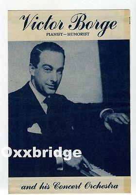 VICTOR BORGE Concert Program Classical Music Pianist Humorist Original 1940