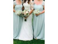 Monsoon/Debenhams mint green lined bridesmaid/prom dress
