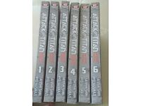 Attack on titan before the fall: vol 1-6
