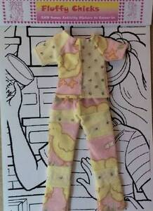 Dolls Clothes: Fluffy Chicks PJ Outfit - Suits Barbie Type Doll Greenwood Joondalup Area Preview