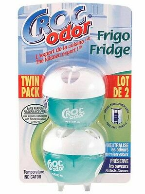 Twin Pack Fridge Fresh freshener Power Absorbs Bad Odours In Fridge Croc Odor