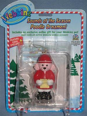 Webkinz Sounds Of The Season Poodle Christmas Ornament Quick Ship =d
