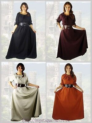Medival Dresses (Medival Dress Larp Reenactment Gothic short sleeves underdress)