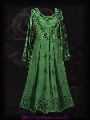 Mittelalter Kleid Grün (Mittelalter Mieder Kleid Samt Stickerei Schnürung grün Gothic Larp 44 46 Nepal)