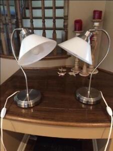 2 IKEA KROBY table lamps