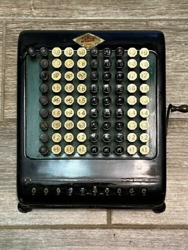RARE (c.1920) Burroughs Calculator Antique Hand Crank Adding Machine Model 5205