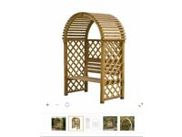 Round Top Arbour garden seat (used) £70