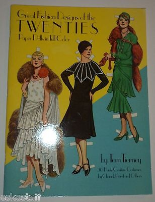 Fashion Designs of the 1920s Paper Dolls 1983 Great Dresses Uncut Original Pack