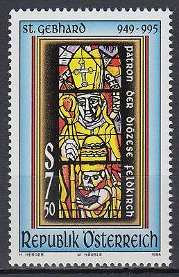 Österreich Austria 1995 ** Mi.2161 HI. Gebhard Glasfenster stained-glass