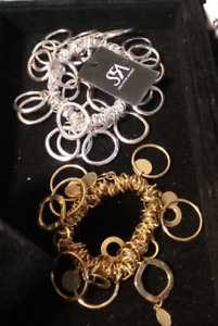 2 NEW!! Saks Fifth Ave bracelets( one gold tone)(one silver tone