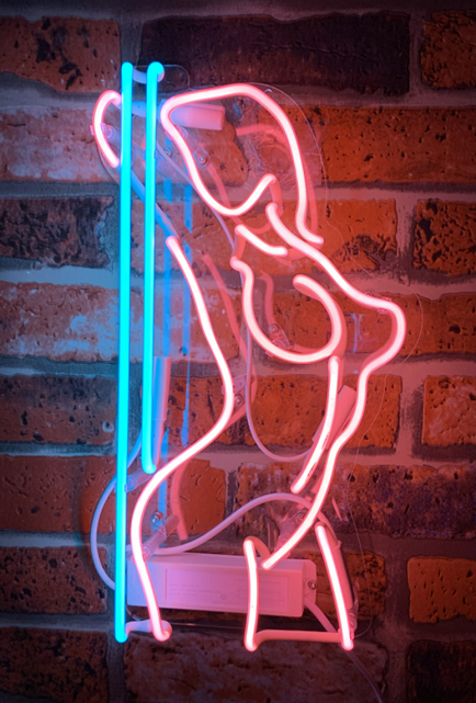 "Girl Stripper Pole Dance Neon Light Sign Acrylic 14"" Lamp Be"