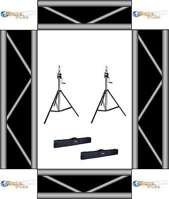 Pair of Global Truss ST-132 Crank Stands with Bags NEW! Free US 48 Shipping!