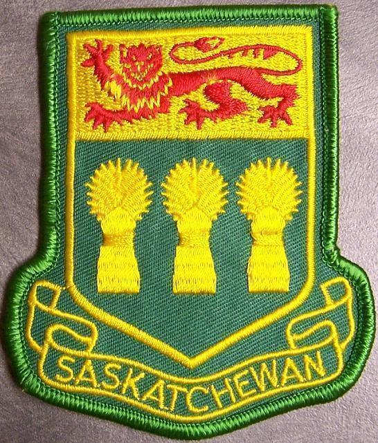 Embroidered International Patch Provincial flag Saskatchewan Canada NEW