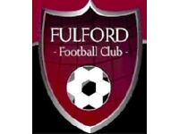 FULFORD UNITED SENIOR PLAYER RECRUITMENT 2017-18