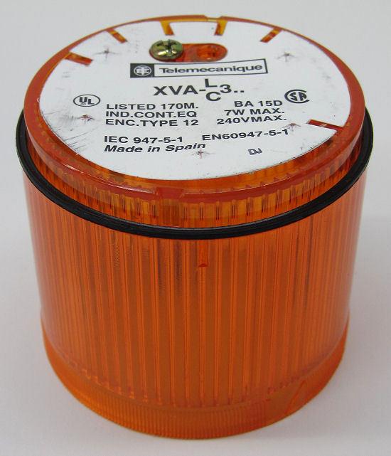 Telemecanique XVA-C351 Stack Light Lens, Orange, 220V Max, w/o Lamp