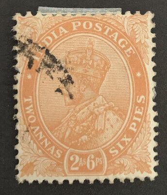 1922-26 India 2a 6p Orange FU Stamp SG 199