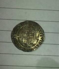 An Elizabeth I hammered silver threepence