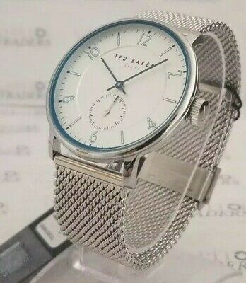 Ted Baker TE50278005 Men's 43mm Stainless Steel Mesh Band Watch *NWT+SHIPS FREE*