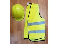 Good as new Hard hat and High viz jacket for cscs construction jobs