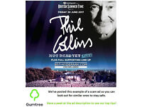 Phil Collins - Barclaycard British Summer Time - Friday -- Read the ad description before replying!!