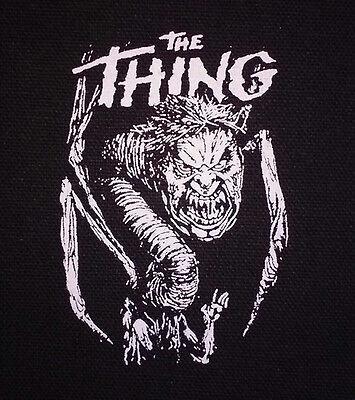 The Thing PATCH canvas screen print HORROR - John Carpenter Sci-fi cult classic