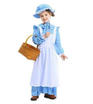 Girls Colonial Costume (Meeyou Girls Pioneer Costume, Colonial Prairie Dress for)