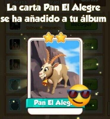 PAN EL ALEGRE - Coin Master - Carta Muy Rara!