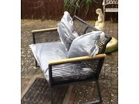 New Garden Lightweight 2 Seated Bench Rope: Polypropylene plastic Back & Seating