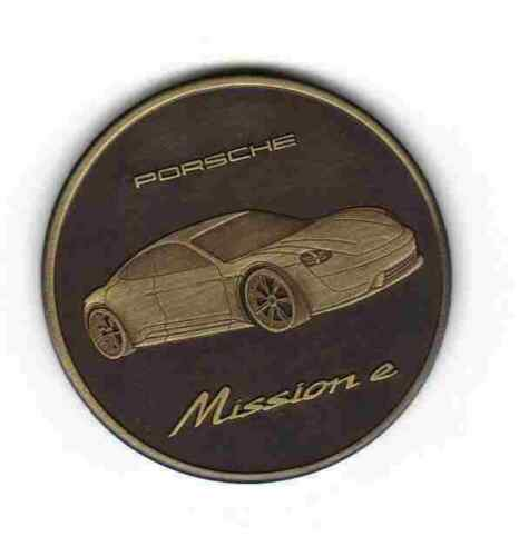 Porsche Mission e Coin Medal Uncovered 2017, Promotional Item Not Sold in Stores