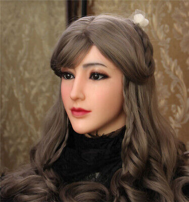 Crossdressing For Halloween (Realistic Silicone Female Masks Mask Doll Halloween for Crossdressers)