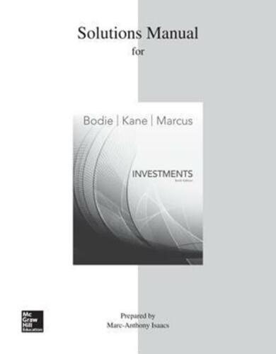 P.D.F Solutions Manual For Investments - $2.00