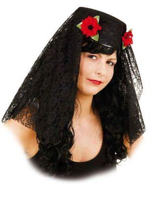 Mantilla traditioneller Spanien Hut zum Spanierin Kostüm an Karneval Fasching