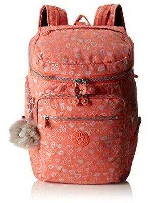 NEW Kipling Upgrade Hearty Pink Met large backpack School laptop bag 28L Rrp£141