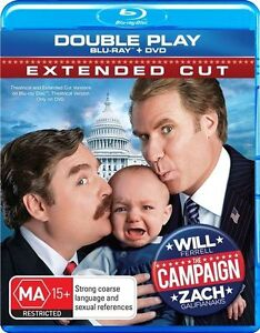 *New & Sealed* The Campaign (Blu-ray + DVD, 2012, 2-Disc Set) Extended Cut. AUS