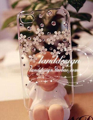 New Crystal flower Transparent Finished HARD Case cover for APPLE iPhone 5 5S O on Rummage