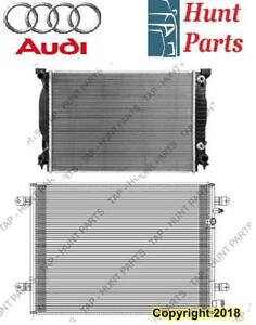 All Audi AC compressor Condenser Radiator Support Fan Cooling Compresseur AC Condenseur Radiateur Support Ventilateur