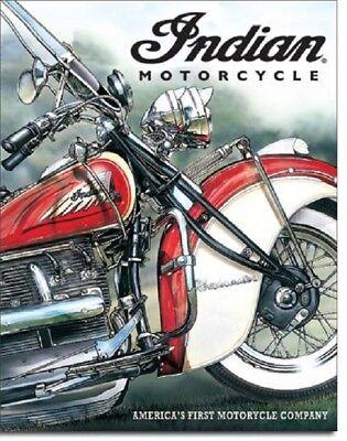 Indian Motorcycle America Pioneer Harley Garage Wall Decor Ad Metal Tin Sign New