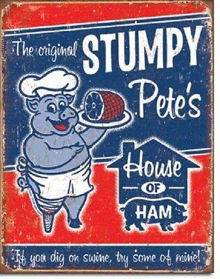Stumpy Pete's House of Ham Retro Kitchen Funny Wall Art Decor Metal Tin Sign New