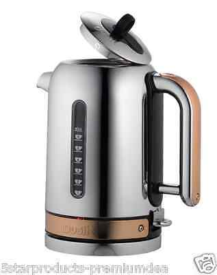 NEW DUALIT CLASSIC KETTLE COPPER 1.7L LITRE BOIL TEA CUP SAFE HANDLES LID FILTER