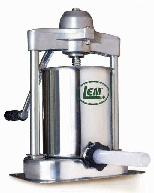 LEM MIGHTY BITE 15LB. VERTICAL SAUSAGE STUFFER - STAINLESS STEEL- MANUAL - NEW