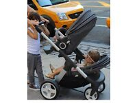 Stokke double crusi pushchair/stroller, Buggy board, foot muff, winter kit, cup holder, rain covers