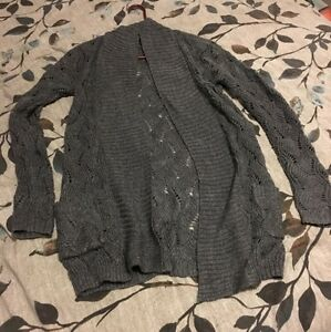Black and Grey Loose Knit Cardigans with Pockets London Ontario image 4