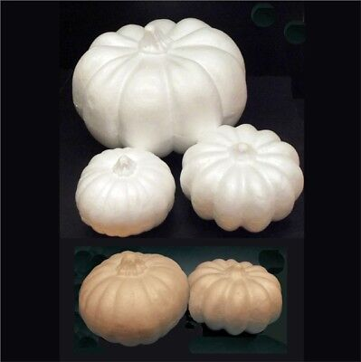 Pumpkins - Polystyrene or Papier Mache - Plain Halloween Party Decorations Craft
