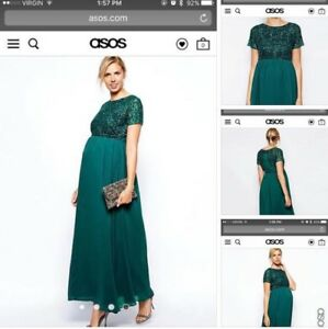 STONY PLAIN: ASOS XL Maternity Dress