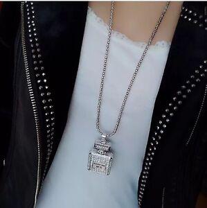 Crystal Perfume Bottle Necklace