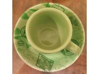 Set of 4 Espresso Cups & 4 Matching Saucers (Timothy's) NEW