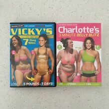 Vickys 7 day slim + Charlottes 3 min belly blitz. Workout dvds Kotara Newcastle Area Preview
