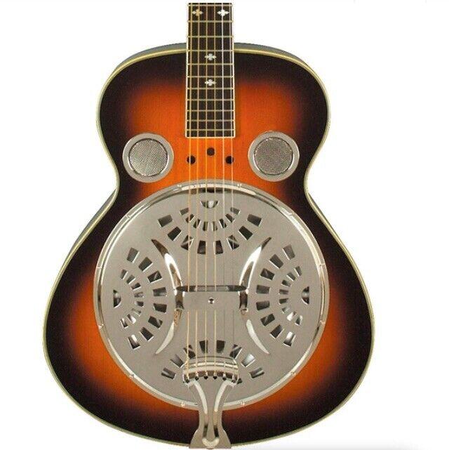 Rogue Classic Spider Resonator Sunburst Roundneck Guitar Free Shipping