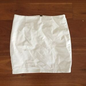 White leather skirt Roselands Canterbury Area Preview